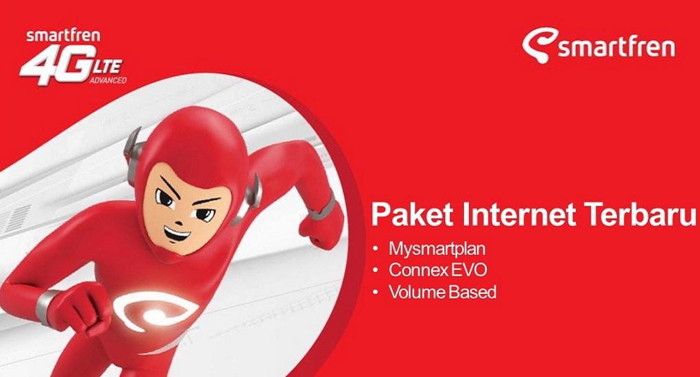 4 Jenis Paket Internet Smartfren  dengan Masa aktif 1 Bulan
